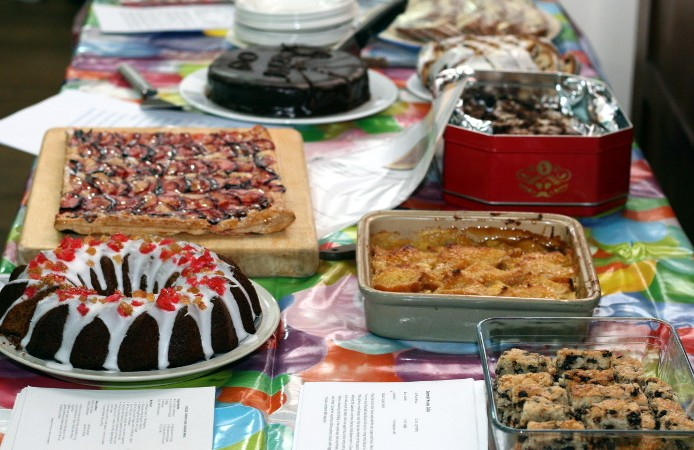 A table spread with the WI members favourite recipes